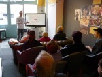 Baraa Ehsaan Kouja giving his talk