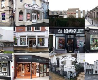 Frontages of some galleries on the ArtsTrail
